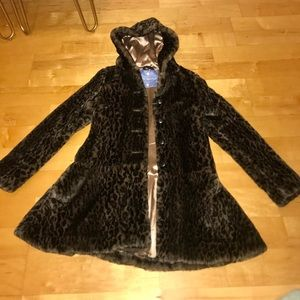 Free People Animal Trench Coat